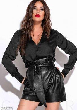 Шелковое боди-блуза