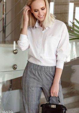 Однотонная блуза-рубашка