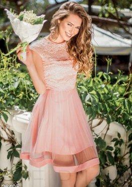 Нежное фатиновое платье