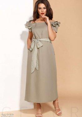Льняное платье-макси