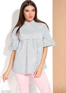 Летняя блуза-клеш