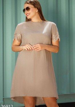 Асимметричное льняное платье