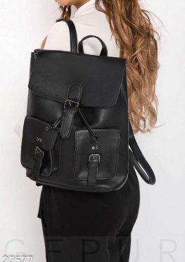 Молодежный кожаный рюкзак