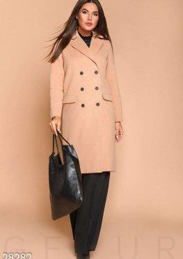 Прямое кашемировое пальто