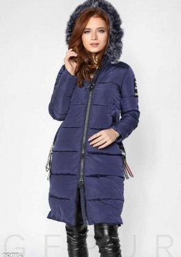 Стеганое зимнее пальто