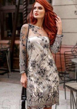 Вечернее платье-сетка