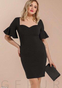 Платье с рукавом-воланом