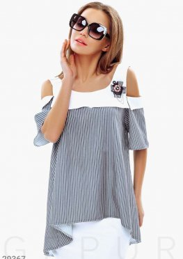 Блуза-oversize в полоску