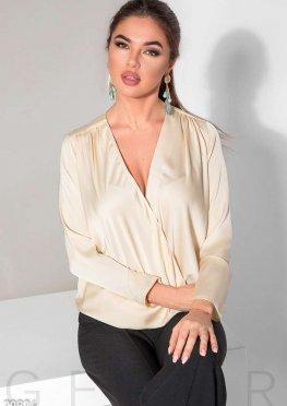 Шелковая блуза на запа?х