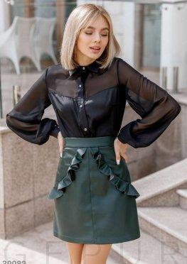 Стильная юбка с оборками