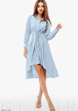 Платье-рубашка со шнуровкой