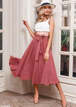 Легкая юбка-полусолнце