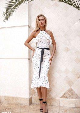 Платье с невесомыми оборками
