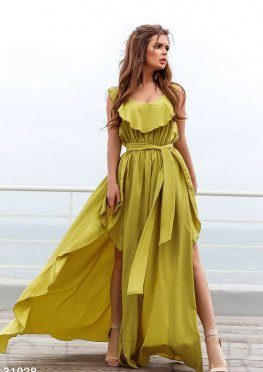 Платье-макси на бретелях