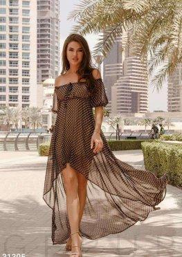 Шифоновое асимметричное платье