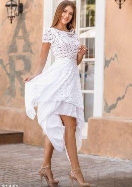 Асимметричное повседневное платье