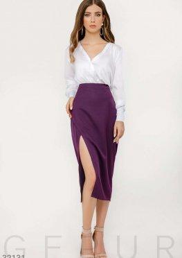 Приталенная юбка-миди