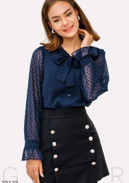 Шифоновая блуза на завязках