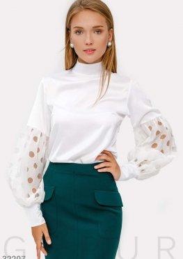 Шелковая классическая блуза