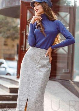 Шерстяная классическая юбка