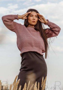 Короткий уютный свитер
