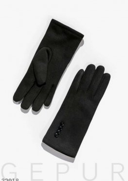 Утепленные перчатки с декором