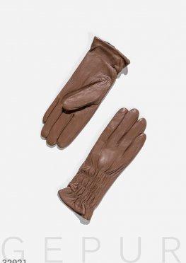 Перчатки светло-коричневого цвета