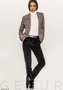 Вельветовые черные брюки