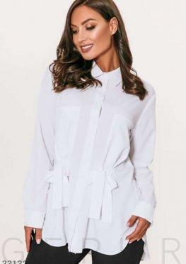 Белоснежная блуза с завязками