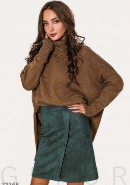 Короткая зеленая юбка
