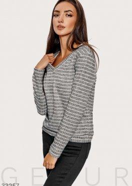 Повседневный трикотажный пуловер