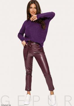 Кожаные стильные брюки