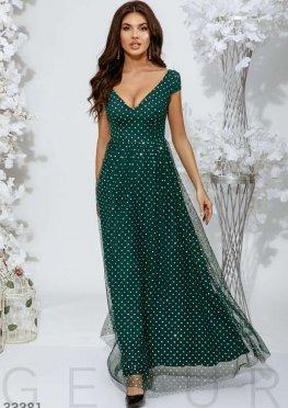 Платье с блестящим декором