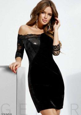 Короткое ажурное платье