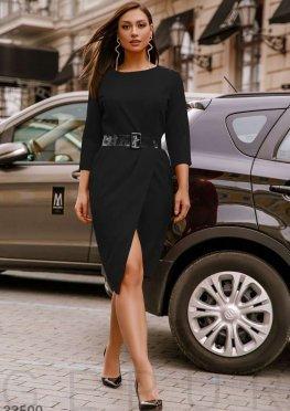 Платье с прозрачным ремнем