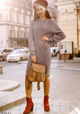 Платье с фактурной вязкой