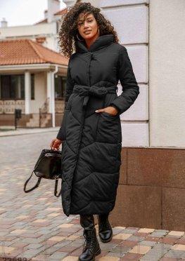 Удлиненная черная куртка