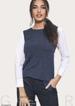 Комбинированная стильная блуза
