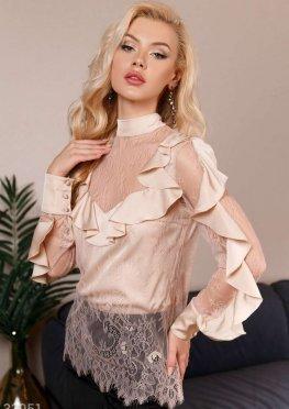 Романтичная шелковая блуза