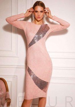 Платье с мерцающим декором