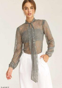 Утонченная кружевная блуза