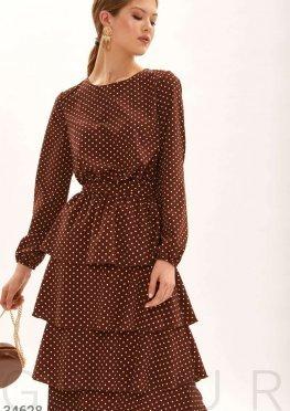 Платье шоколадного оттенка