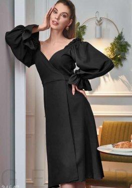 Платье черного цвета на запа?х