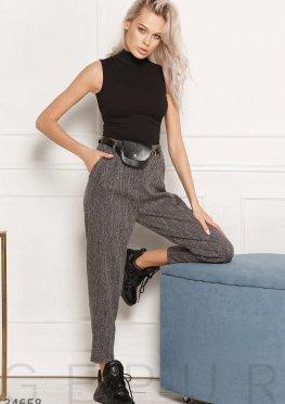 Укороченные брюки с сумкой