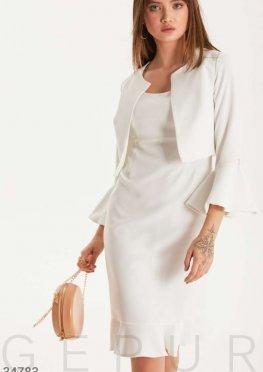 Лаконичный костюм с платьем