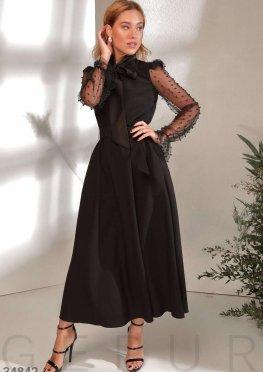 Романтичное черное платье Gepur
