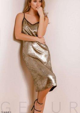 Платье оттенка металлик