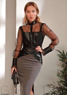 Комбинированная блуза Gepur