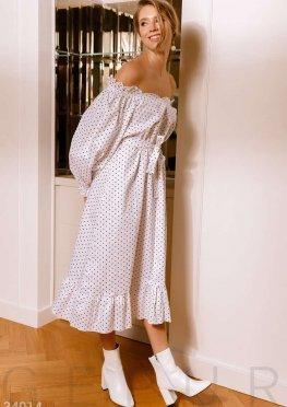 Длинное платье с утонченным принтом