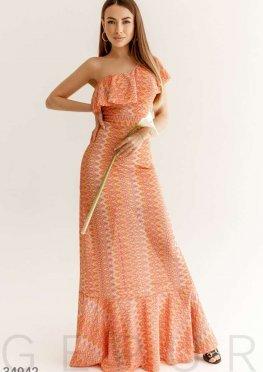 Платье-годе яркого цвета